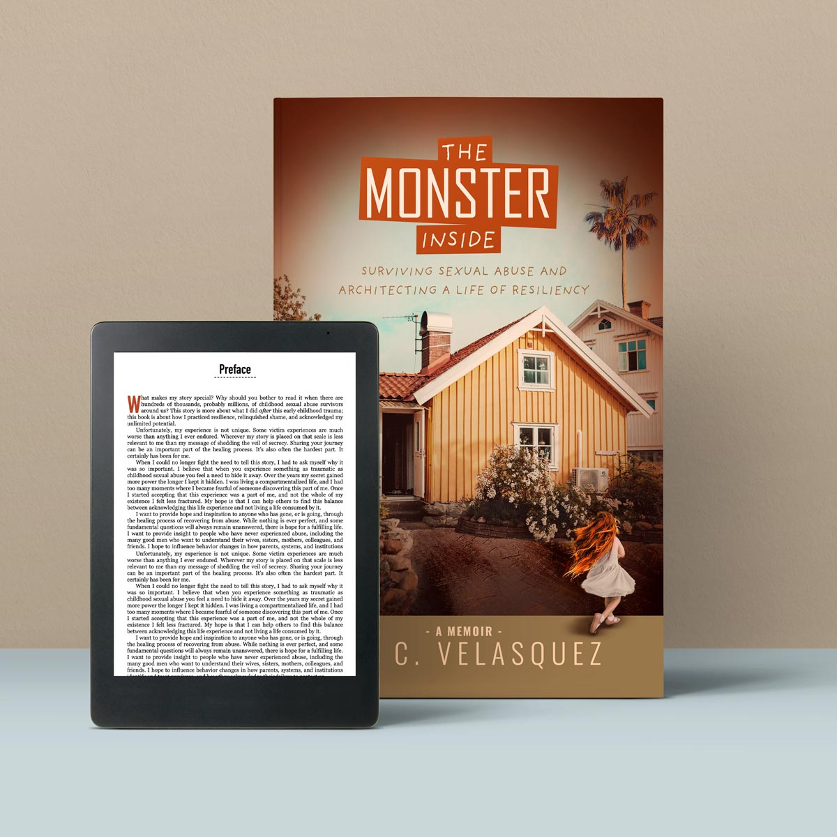 The Monster Inside Book Cover and Kindle Image